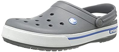 Crocs Crocband II.5, Unisex-Adults' Clogs, Charcoal/Sea Blue, 3 UK (M)/4 UK (W)