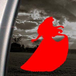Disney Red Decal Sleeping Beauty Aurora Window Red Sticker