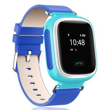Neelam® Y01 Real GPS WiFi LBS Tracker Kids Smart Wrist Watch for GPS GPRS GSM System with Two Way Communication/SOS Surveillance/Alarms /Voice Remote Monitor /Remote Power Off for Children Blue