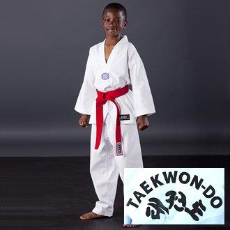 Blitz Sport Kids WTF Printed Taekwondo Suit 2/150cm
