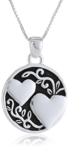 "Sterling Silver ""A Sister Is Someone To Dream, Cry, Sing, Laugh with "" Reversible Pendant Necklace, 18"""