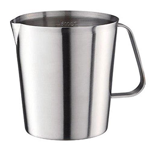 Measuring Cups & Spoons Home & Garden Set of 2 Stainless Steel Measuring Jugs Baker Frother Mug Dishwasher Safe 1L