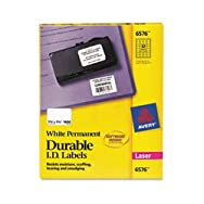 Permanent Durable ID Laser Labels, 1-1/4 x 1-3/4, White, 1600/Pack