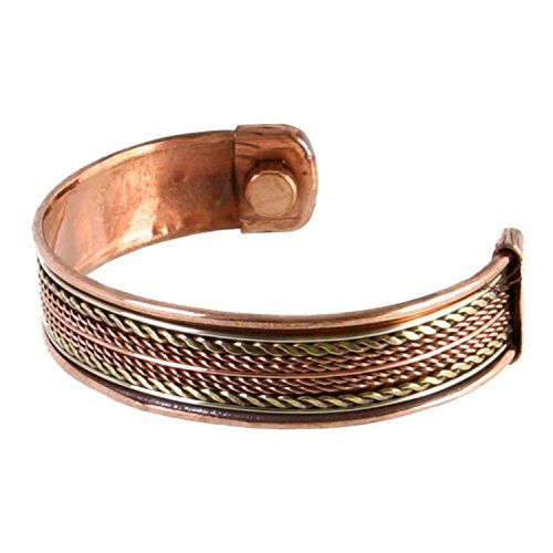 BRACCIALETTO IN RAME PER UOMO CON 2 MAGNETI - rame bracciale, l'artrite. Misura regolabile. . Braccialetto Magnetico in Rame per Golf. Sport, Atletica, Allieva il Dolore da Artrite, Tunnel Carpale, Infortuni alle Articolazioni. Tendinite, RSI. Gioielleria Magnetica. Braccialetto Magnetico in Rame.Bracciale Magenti. COPPER BRACELET FOR MEN WITH 2 MAGNETS