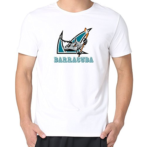 JUST Men's SPA Hockey San Jose Barracuda T-Shirts White XXL (Spa Ticket Book compare prices)