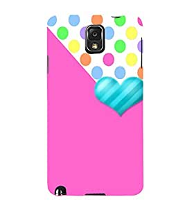 Love Polka Dots 3D Hard Polycarbonate Designer Back Case Cover for Samsung Galaxy Note 3 N9000 :: Samsung Galaxy Note 3 N9002 :: Samsung Galaxy Note 3 N9005 LTE