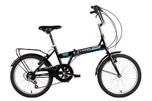 Classic Saker Folding Bike - Black ( Wheel 20 Inch, Frame 131/2 Inch) (Old Version)