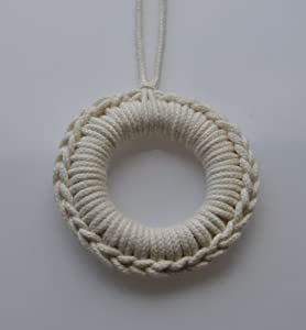 Barin Toys Cotton Breastfeeding Necklace, White