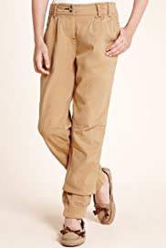 Cotton Rich Cuff Hem Trousers [T74-3177Y-S]