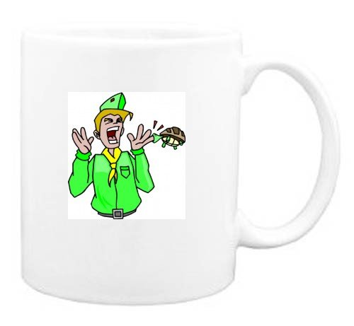 Mug with man, body, individuals, individual, humans, person, biting, human, persons, finger, pain, people, turtle