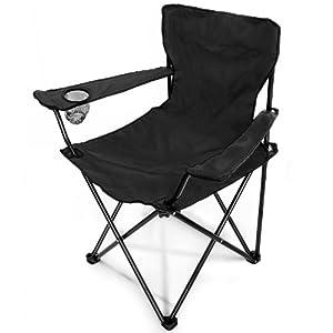 Sedia pieghevole per campeggio colore nero giardino - Sillas de camping plegables ...