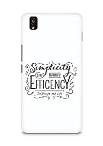 Amez Simplicity is the best form of Efficency Back Cover For OnePlus X