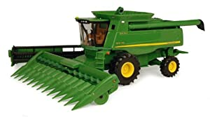 Ertl John Deere 9870 STS Combine With Grain Head And Revised Corn Head Dealer Edition, 1:32 Scale