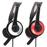 Headphone - Somic EV-63 Elegant 3.5mm Gaming On-Ear Headphone with Mic and Remote for PC/PS3 ( Color : White )