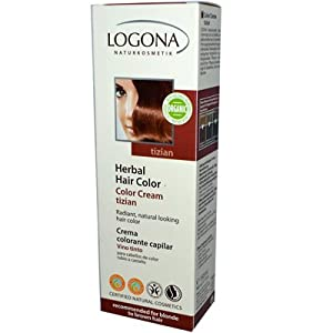 Logona Herbal Hair Color Cream, Tizian, 5.07 Ounce