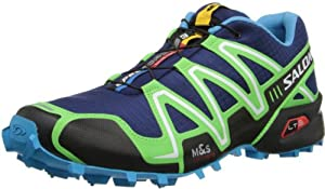 Salomon Men's Speedcross 3 Trail Running,Lake/Fluo Green/Fluo Blue,10.5 M US