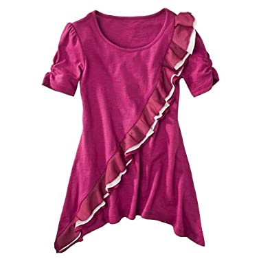Product Image DSigned Shake It Up Girls' Ruffled Tunic - Pink