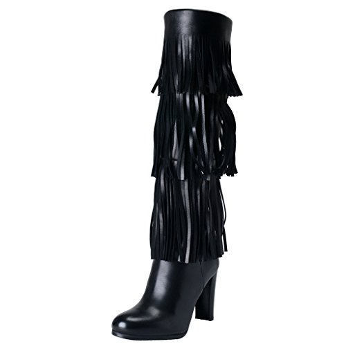 Stuart Weitzman Womens Black Leather High Heel Boots Shoes