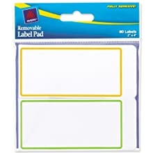 Avery Removable Label Pad, 2 x 4 Inches, Assorted Borders. 80 Labels (22024)