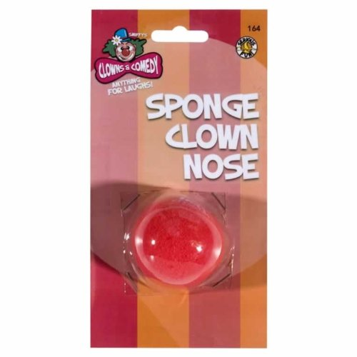 Smiffys Clown Nose Sponge (Red) - 1