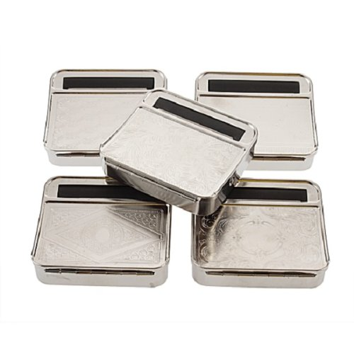 A little bit different taste! Hand-rolled cigarette tobacco cigar cigarette automatic cigarette machine rolling roller cigar cigarette machine smoking Jig toy stainless steel Silver