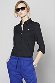 Long Sleeve Stretch Poplin Woven Shirt
