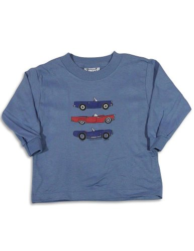 Mis Tee V-Us - Baby Boys Long Sleeve Collectible Cars T-Shirt, Blue 27075-18Months front-622992