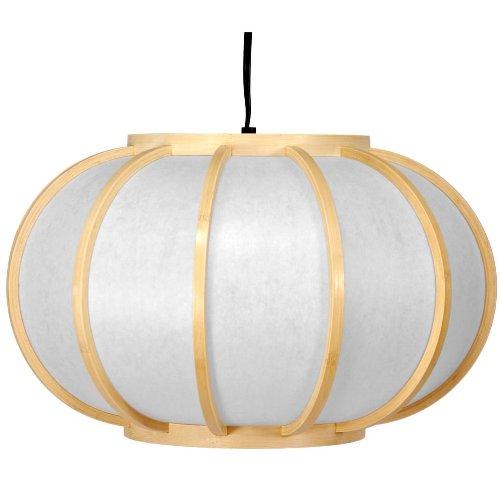 Oriental Furniture Harajuku Hanging Lantern, Natural front-536691