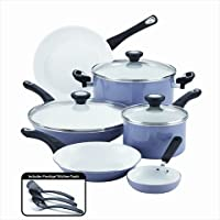 Farberware 12 Piece Ceramic Nonstick Cookware (Purple)