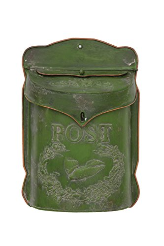 Creative Co-Op Green Tin Post Box (Vintage Mailbox Wall Mount compare prices)