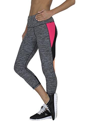 c046d3952e11 RBX Active Women s Striated Color Block Printed Capri Leggings ...