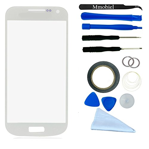 Samsung Galaxy S4 Mini I9195 I9190 I435 L520 R890 White Display Touchscreen Replacement Kit 12 Pieces Including 1 Replacement Front Glass For Samsung Galaxy S4 Mini I9195 / I9190 / 1 Pair Of Tweezers / 1 Roll Of 2Mm Adhesive Tape / 1 Tool Kit / 1 Microfib