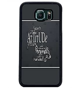 PrintDhaba Quote D-1348 Back Case Cover for SAMSUNG GALAXY S6 EDGE (Multi-Coloured)