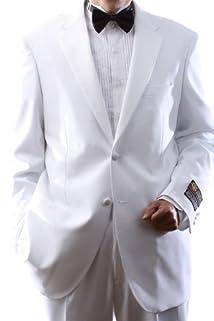 Men's Single Breasted Two Button White Tuxedo