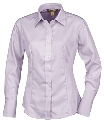 Tri-Mountain Ladies 100% cotton non-iron twill dress shirt. by Tri-Mountain