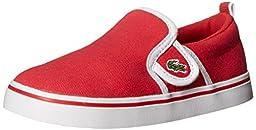 Lacoste Gazon 116 1 Slip-On (Toddler/Little Kid/Big Kid), Red, 5.5 M US Toddler