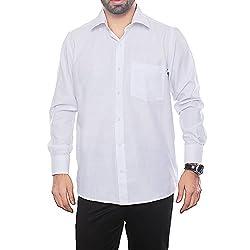 VinaraTrends White Color Poly Cotton Shirt For Men