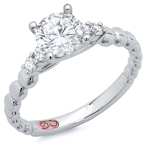 Demarco Love Glamour Collection Dw7602 18 Kt White Gold Ring W/ 0.15 Carats Of Diamonds