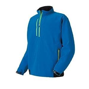 FootJoy Men's DryJoys Tour XP Pullover Rain Shirts Medium Cobalt/Black/Lime