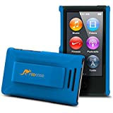 iPod Nano 7 Case - roocase Ultra Slim Fit (Blue) Shell Case Cover with Tempered Glass Screen Protector for Apple iPod Nano 7 (7th Generation)