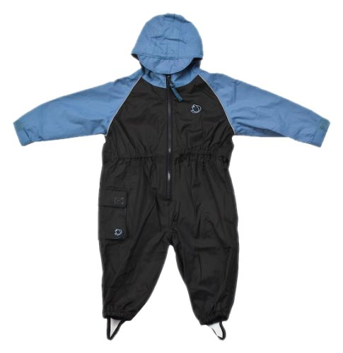Hippychick Unisex Baby All-In-One Waterproof Blue/Black 12-18 mths