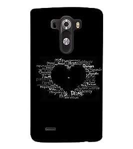 PRINTSWAG TYPOGRAPHY Designer Back Cover Case for LG G3