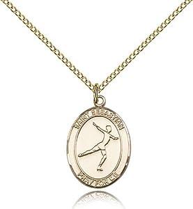 Gold Filled Women's Patron Saint Medal of ST. SEBASTIAN