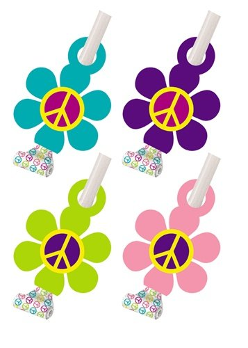 Groovy Girl Party Party Blowouts 8 Pack - 1