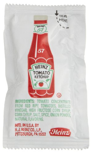 Heinz Tomato Ketchup, 0.32-Ounce Single Serve Packages (Pack Of 200) front-475190