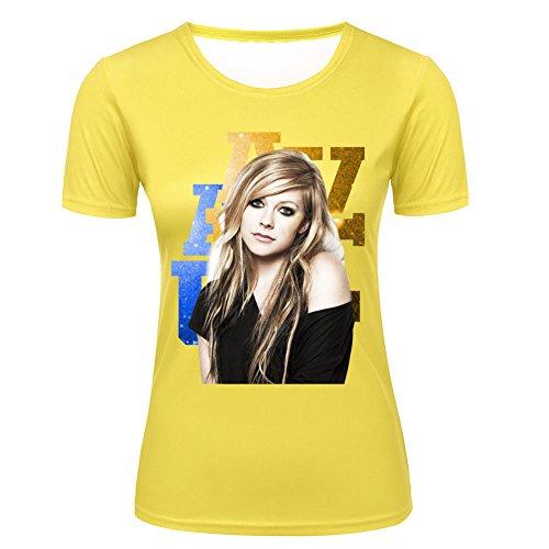 Avril-Avril-Lavigne-Fashion-T-shirt-for-Women-WhiteBlack