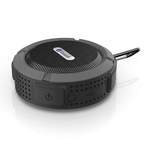 SpeedControl Mini Handy 3.0 Wireless Bluetooth Speaker Built in Microphone Suction Cup and Snap Hook Included Black Waterproof Outdoor/Shower Black (Bathroom Fan With Bluetooth compare prices)