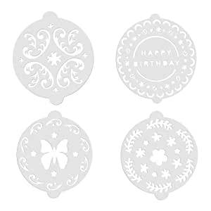 Kitchen Craft SDICSTEN8PC Sweetly Does It Decorative Cake Stencil, Set of 8