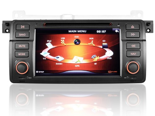 7 Inch Car Dvd Player For Bmw E46 (1998-2005),Android 4.0 System+Wifi+4G Card+Gps+Canbus+Rds+Dvd+Analog Tv+Bt+Ipod Function