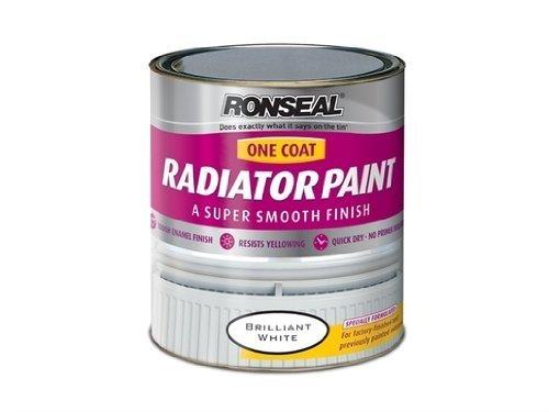 Ronseal OCRPWS750 One Coat Radiator Paint White Satin 750ml